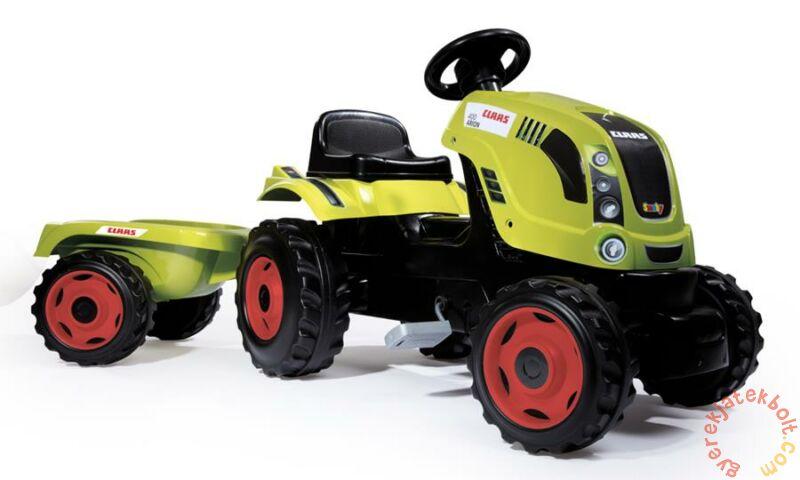 Smoby Claas Farmer XL Pedálos traktor utánfutóval (710114)