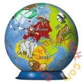 Ravensburger 72 db-os 3D gömb puzzle - Földgömb állatokkal (11840)