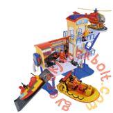 Simba Sam, a tűzoltó tengeri mentőállomás figurával (7663)