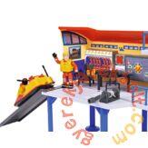 Simba Sam, a tűzoltó tengeri mentőállomás figurával (7663) - bontott