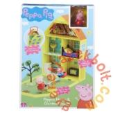 Peppa malac kertes ház 2 figurával játékszett (PEP06156)