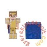 Minecraft gyűjthető figura - Alex arany páncélban (min19970)
