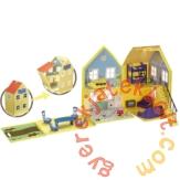 Peppa malac Delux ház 4 figurával játékszett (PEP04840)