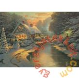 Schmidt 1000 db-os puzzle - On Christmas Eve, Thomas Kinkade (59492)