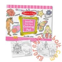 Melissa and Doug Jumbo színező - Pink (4225)