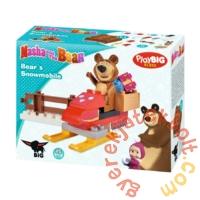 Play Big Bloxx Mása és a medve - Misa motoros szánja építőszett (57101)