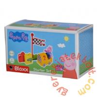 Play Big Bloxx Peppa malac kezdőszett - Autóverseny építőszett