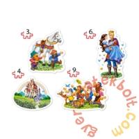 Castorland Sziluett puzzle (3,4,6,9 db-os) - Hófehérke és a hét törpe (B-005109)