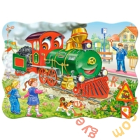 Castorland 30 db-os puzzle - Zöld mozdony (B-03433)