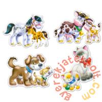 Castorland Sziluett puzzle (4 5 6 7 db-os) - Állatok és kicsinyeik (B-04218)