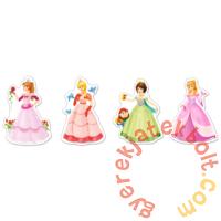 Castorland Sziluett puzzle (4 5 6 7 db-os) - Csinos hercegnők (B-04409)