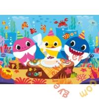 Clementoni 60 db-os Színezhető kétoldalas puzzle -  Baby shark - Születésnap (26095)