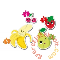 Clementoni 4 az 1-ben Bébi sziluett puzzle (2,3,4,5 db-os) - Gyümölcsök (20815)
