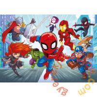 Clementoni 60 db-os Színezhető kétoldalas puzzle - Marvel Szuperhősök (26098)