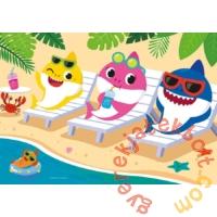 Clementoni 60 db-os Színezhető kétoldalas puzzle - Baby shark - Nyaralás (26094)