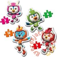 Clementoni 4 az 1-ben Bébi sziluett puzzle (3,6,9,12 db-os) - Szuper szárny (20816)