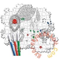 Clementoni 60 db-os Színezhető kétoldalas puzzle - Szafari (26994)