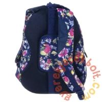 BackUp iskolatáska, hátizsák - 4 rekeszes - Pasztell virágok (PLB1A4)