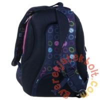 BackUp iskolatáska, hátizsák - 3 rekeszes - Színes karikák (PLB1D18)