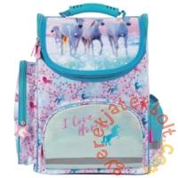 Lovas ergonomikus iskolatáska - I love horses - Rózsaszín