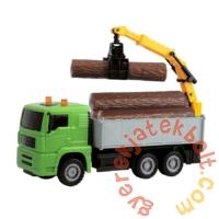 Dickie Heavy City Truck játék munkagépek - Farönkszállító (3744003)