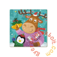 Dodo 16 db-os Színezhető kétoldalas puzzle - Szarvas és pingvin karácsonya (300353)