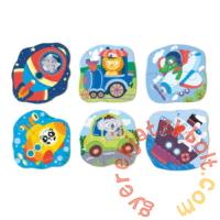Dodo 6 az 1-ben Baby sziluett puzzle (2,3,4 db-os) - Járművek (300154)