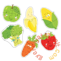 Dodo 6 az 1-ben Baby sziluett puzzle (2,3,4 db-os) - Gyümölcsök és zöldségek (300155)