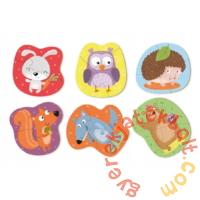 Dodo 6 az 1-ben Baby sziluett puzzle (2,3,4 db-os) - Erdei állatok (300195)