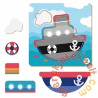 Dodo 5 db-os Keretes Baby puzzle - Hajó (300350)