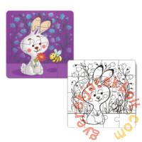 Dodo 16 db-os Színezhető kétoldalas puzzle - Nyuszi (300121)
