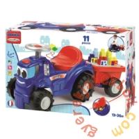 Écoiffier Abrick Traktor bébitaxi utánfutóval, építőkockákkal (7799)