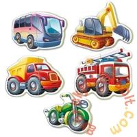 Educa 5 az 1-ben Baby sziluett puzzle (3,4,5 db-os) - Járművek (14866)