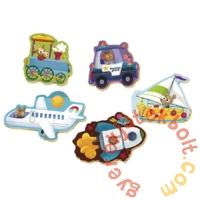 Educa 5 az 1-ben Baby sziluett puzzle (3,4,5 db-os) - Járművek 2 (18059)