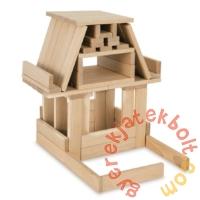 Eichhorn 200 db-os fa natúr építőkocka játékszett