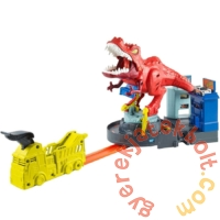 Hot Wheels City T-Rex zúzó pályaszett (GFH88)