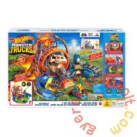 Hot Wheels Monster Truck T-Rex vulkán Aréna pályaszett