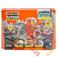 Matchbox Action Drivers emeletes garázs játékszett