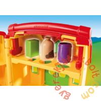 Playmobil 1.2.3 - Hordozható tanyácskám játékszett
