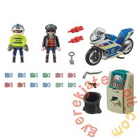 Playmobil - City Action - Rendőrségi motor - Pénztolvaj nyomában