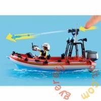 Playmobil - City Action - Tűzoltók helikopterrel és csónakkal játékszett