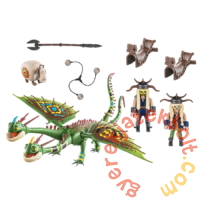 Playmobil - Így neveld a sárkányodat - Dragon Racing -  Kőfej és Fafej, Töffel, Böffel játékszett