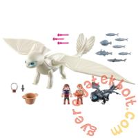 Playmobil - Így neveld a sárkányodat - Fényfúria bébisárkánnyal és gyerekekkel játékszett