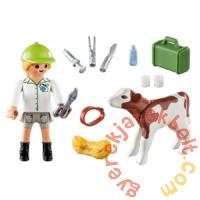 Playmobil - Special Plus - Állatorvosnő kisborjúval játékszett