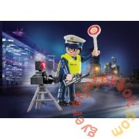 Playmobil - Special Plus - Rendőr sebességmérővel játékszett