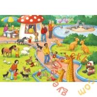 Ravensburger 2 x 24 db-os puzzle - Az állatkertben (07813)