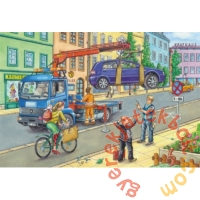 Schmidt 3 x 24 db-os puzzle - Garbage truck, tow truck, sweeper (56357)