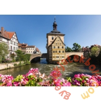 Schmidt 1000 db-os puzzle - Bamberg, Regnitz and Old Town hall (58397)