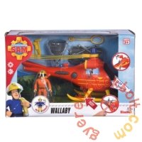 Sam, a tűzoltó - Wallaby helikopter Tom figurával - 22 cm (1087)
