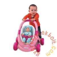 Smoby Minikiss 3 az 1-ben járássegítő, babakocsi és babaülőke (210205)